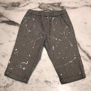 Bonpoint Striped Paint Splatter Pants 6M NEW